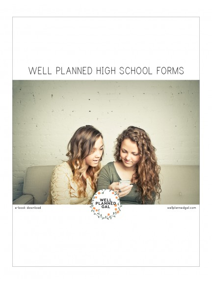 Well Planned High School Forms